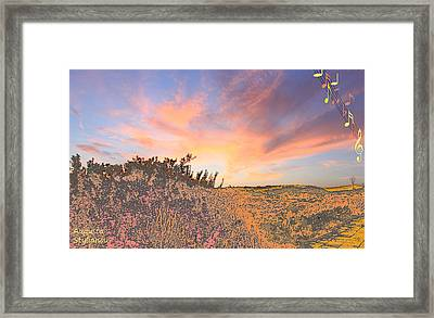 Happy Sunset Framed Print by Augusta Stylianou