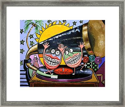 Happy Teeth When Your Smiling Framed Print