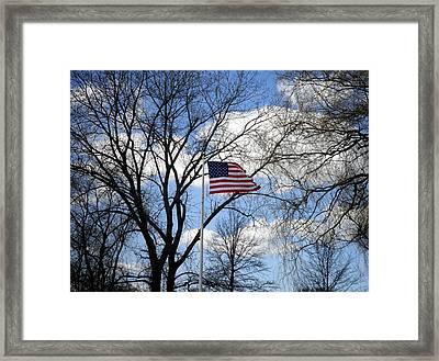 Happy Thanksgiving America Framed Print