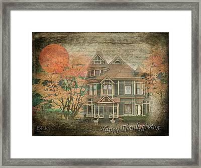 Happy Thanksgiving Framed Print by Barbara R MacPhail