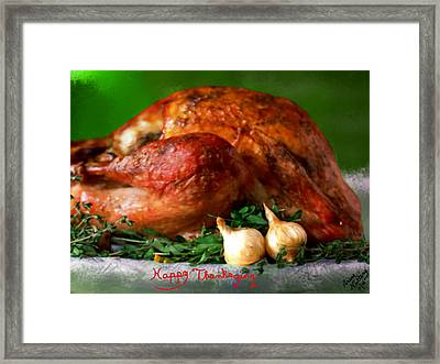 Happy Thanksgiving Framed Print by Bruce Nutting