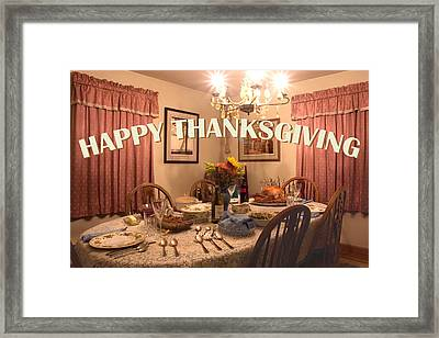 Happy Thanksgiving Card Framed Print by Gene Walls