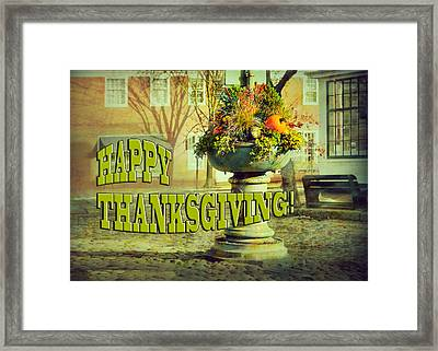 Happy Thanksgiving Card Framed Print