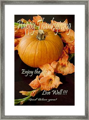 Happy Thanksgiving Framed Print by Ivete Basso Photography