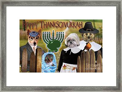 Happy Thanksgivukkah -1 Framed Print