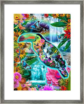 Happy Toucan Framed Print by Alixandra Mullins