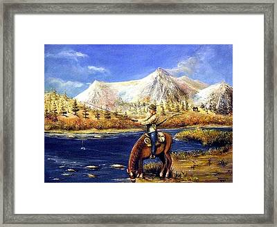 Framed Print featuring the painting Happy Trails by Bernadette Krupa