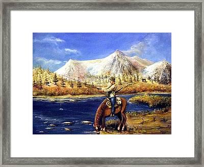 Happy Trails Framed Print by Bernadette Krupa