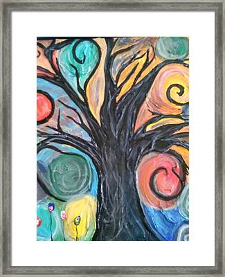 Happy Tree Framed Print by Sarah Dufner