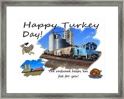 Happy Turkey Day Framed Print by Joseph C Hinson Photography
