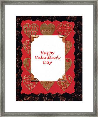 Framed Print featuring the photograph Happy Valentines Day Card by Vizual Studio