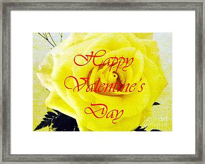Happy Valentine's Day Framed Print by Barbie Corbett-Newmin