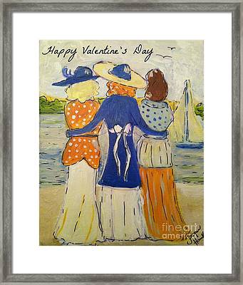 Happy Valentine's Day Card Framed Print