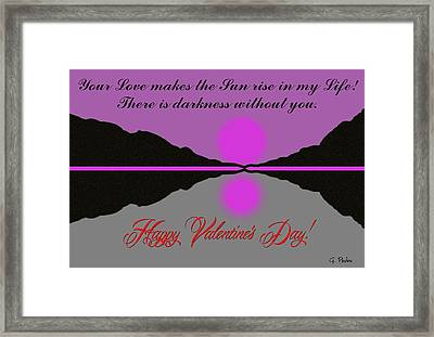 Happy Valentine's Day Framed Print by George Pedro