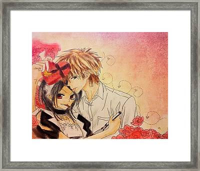Happy Valentines Day Misa-chan Framed Print