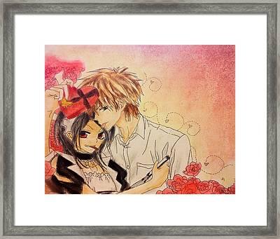 Happy Valentines Day Misa-chan Framed Print by Samantha Goncz