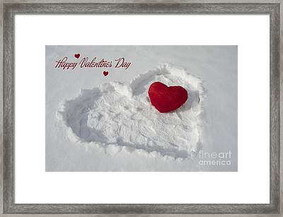 Happy Valentins Days Framed Print by Nicole Markmann Nelson