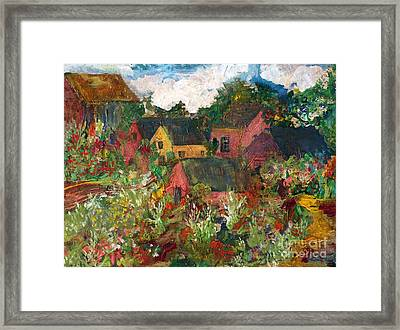 Happy Village Framed Print by Deborah Montana