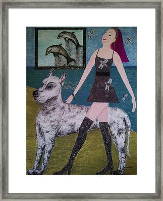 Happy Walk By Jasna Gopic Framed Print