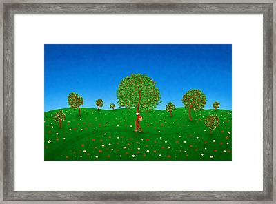 Happy Walking Tree Framed Print