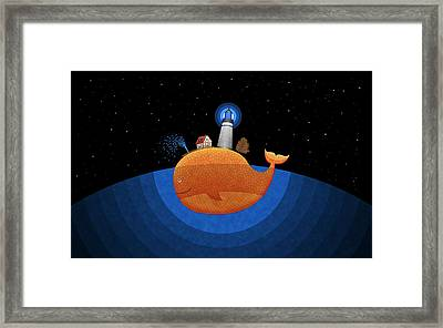 Happy Whale House Framed Print by Gianfranco Weiss
