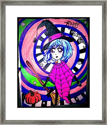 Happy Witch Framed Print by Melody erin Hammonds