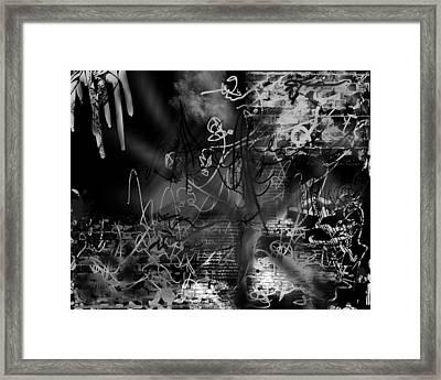 happyBirth - BlackGreyWhite Framed Print
