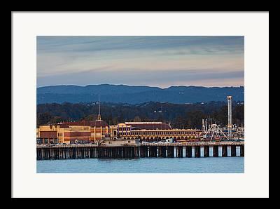 Santa Cruz Wharf Framed Prints