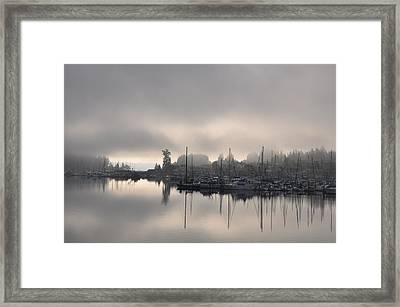 Harbor At Dawn 2 Framed Print