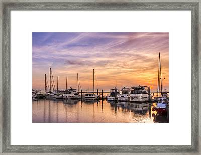Harbor At Jekyll Island Framed Print by Debra and Dave Vanderlaan