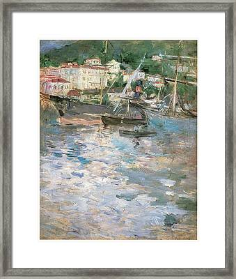 Harbor At Nice Framed Print by Berthe Morisot
