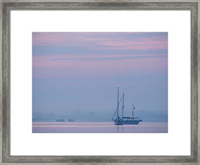 Harbor Before Dawn Framed Print