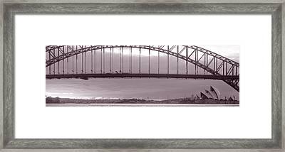 Harbor Bridge, Pacific Ocean, Sydney Framed Print