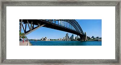 Harbor Bridge, Sydney, Australia Framed Print by Panoramic Images
