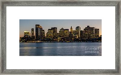 Harbor City Framed Print