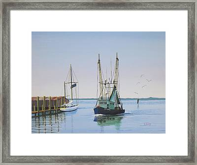 Harbor Days End Framed Print