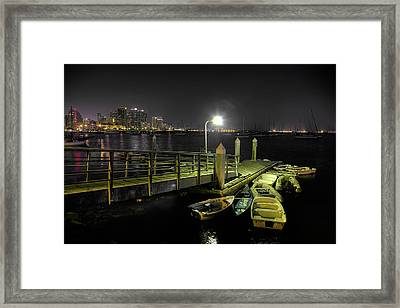 Harbor Dinghies Framed Print by Peter Tellone