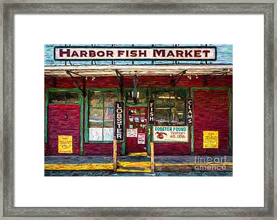 Harbor Fish Market Framed Print