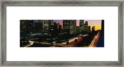 Harbor Freeway Los Angeles Ca Framed Print
