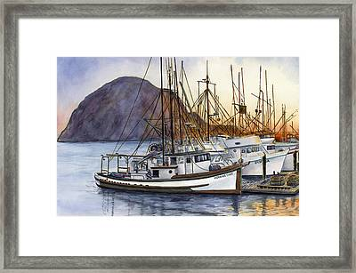 Harbor Home Framed Print by Karen Wright