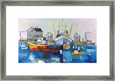 Harbor In The Maine Framed Print by Mikhail Zarovny
