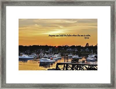 Harbor Inspiration Framed Print
