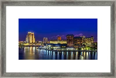 Harbor Island Nightlights Framed Print