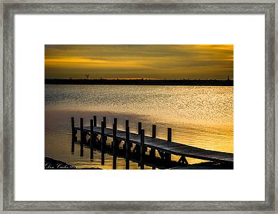 Harbor Lake Framed Print