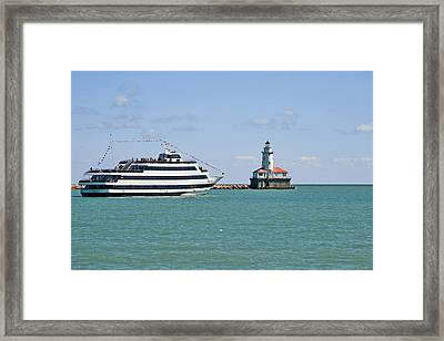 Harbor Light Chicago Framed Print by Christine Till