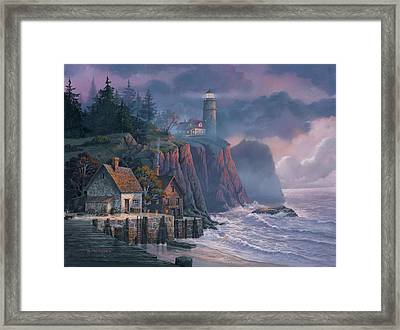 Harbor Light Hideaway Framed Print