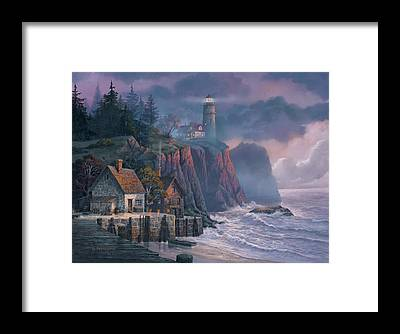 Seascape Framed Prints