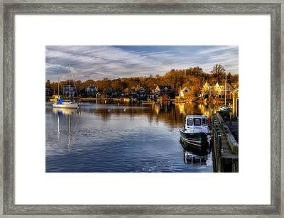 Harbor Light Framed Print by Mark Papke
