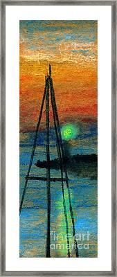 Harbor Light Framed Print by R Kyllo