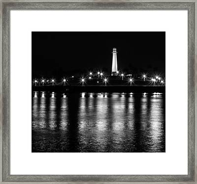 Harbor Lighthouse Framed Print by James Barber